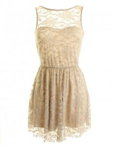 Beige lace dress!