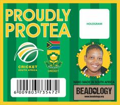 SA Cricket bracelet card.  www.beadcoalition.com