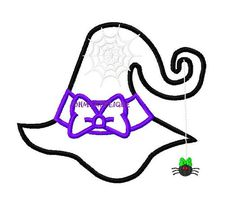 Witch Hat Embroidery Applique Design by ohmyapplique on Etsy