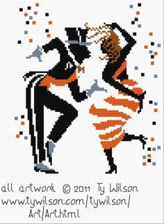 Les 61 meilleures images de Danseurs | Point de croix ...