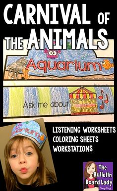 Carnival of the Animals worksheets, listening sheets, coloring sheets, crowns and more! Add these resource to your unit and make Saint-Saens proud.  Most are print and go and really help your students connect to the music.