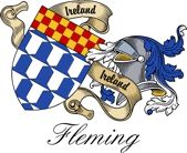 Fleming Irish Sept Coat of Arms from the website  www.4crests.com #coatofarms #familycrest #familycrests #coatsofarms #heraldry #family #genealogy #familyreunion #names #history #medieval #codeofarms #familyshield #shield #crest #clan #badge #tattoo