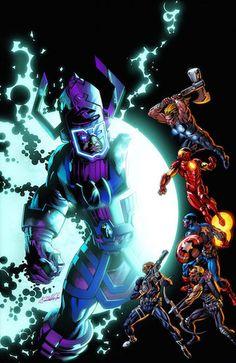 """Coleccionable Ultimate 97 : El mayor acontecimiento del Universo Ultimate hasta la fecha. El Galactus del Universo Marvel contra los Ultimates. """"La Era de Ultrón"""" ha roto las costuras del espacio-tiempo y dejado un agujero dentro del Universo Ultimate. Galactus ha pasado a través de él... y tiene hambre. ¿Es la última batalla para los héroes de todo un mundo? Ultimates, Spiderman y La Patrulla-X se preparan para el mayor peligro al que hayan he"""
