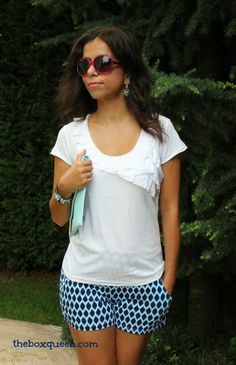 These shorts are SOOO cute! Stitch Fix August 2014 Review | The Box Queen