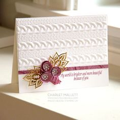 Paisleys & Posies card created by Charlet Mallett (Painted Orange) - Set from Holiday Mini catalog 2016 Stampin' Up!