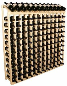 """Wooden 144 Wine Bottle Display Top Wine Rack Storage Kit (Ponderosa Pine) by Wine Racks America Living Series®. $352.01. Capacity: 144 Wine Bottles and Fits all 750ml Bottles. With same day free shipping, this value can't be beat. Dimensions: 51 3/4""""(h) x 50 15/16""""(w) x 10 1/2""""(d). Simple Assembly May be Required. Eased bottle supports protect your labels. Proudly Made in the USA. Lifetime Warranty.. Present 12 of your best bottles label up for easy appreciation. Di..."""