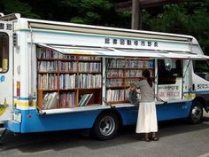 bookmobile bus, japan <<< WHAT?!?! I'M OUTRAGED!!! WHY IS THIS NOT A THING EVERYWHERE?!?!