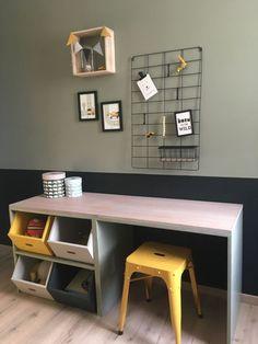 Boys Desk, Baby Boy Rooms, Kids Bedroom, Room Boys, Wood Projects, Office Desk, Corner Desk, Sweet Home, New Homes