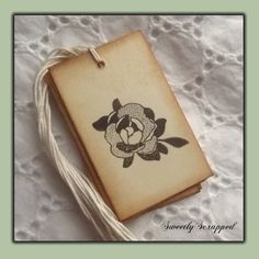 sweet little rose tag