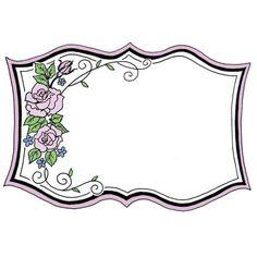 8986 - Fancy Rose Frame Rubber Stamp - Sku: H223
