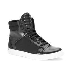 Kenneth Cole New York | Double Header Neoprene High-Top Sneaker #kennethcolenewyork #hightop #sneaker