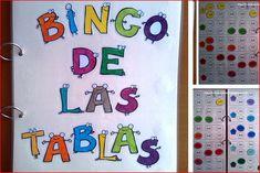 Material Manipulativo el bingo de las tablas de multiplicar