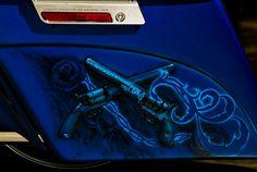 Blue custom saddlebag 2