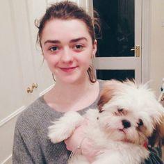 Maisie Williams Adopts A Rescue Dog