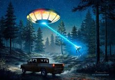 The Travis Walton abduction in Payson Az. Aliens And Ufos, Ancient Aliens, Ancient History, Science Fiction, Ancient Egyptian Art, Ancient Greece, Alien Art, Ufo Sighting, Fan Art