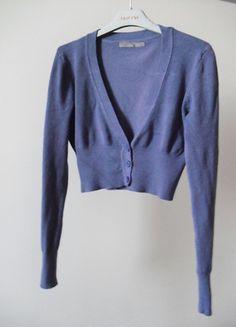 Kup mój przedmiot na #vintedpl http://www.vinted.pl/damska-odziez/bolerka/10830449-sweterek-bolerko-fioletowy-m-38
