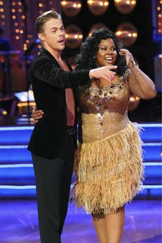 Amber Riley and Derek Hough danced the Samba on week six of 'Dancing With The Stars' Scoring 27 points