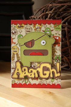 Boys birthday card, mini monsters Cricut cartridge