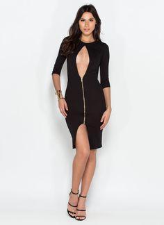 Piece Of My Heart Midi Dress BLACK