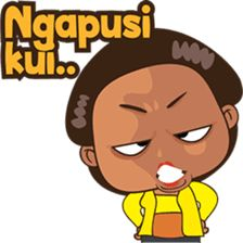 Mbok Ayu dari Jawa vol 2 ( bahasa jawa ) - Stiker LINE Face Stickers, Funny Stickers, Cartoon Jokes, Cartoon Art, Sunflower Wallpaper, Javanese, Line Store, Line Sticker, Emoticon