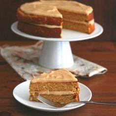 Pumpkin Brown Butter Spice Cake HealthyAperture.com