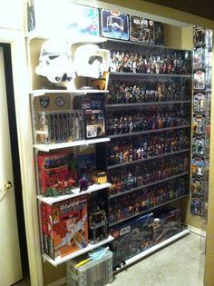 GI Joe Star Wars Masters of The Universe Collection Display