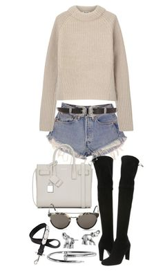 """""""Untitled #20178"""" by florencia95 ❤ liked on Polyvore featuring Levi's, Acne Studios, Yves Saint Laurent, Stuart Weitzman, RetroSuperFuture, Givenchy and Lonna & Lilly"""