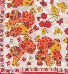 Mushrooms on vintage scarf Janis Joplin, Diana Ross, Fungi, Poster Wall, Poster Prints, Dalida, Hippie Wallpaper, Mushroom Art, Psychedelic Art