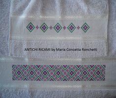 punto croce schemi gratis asciugamani | ANTICHI RICAMI: Asciugamani a punto croce