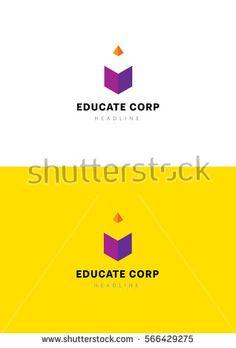 Fast educate logo template.