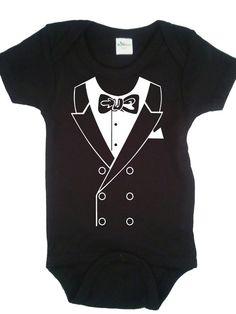 Tuxedo Onesie Baby Bodysuit Cool Hip Trendy 3-6 months, 6-12 months $14