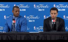 Andre Iguodala & Stephen Curry, NBA Finals 2015 Game 1