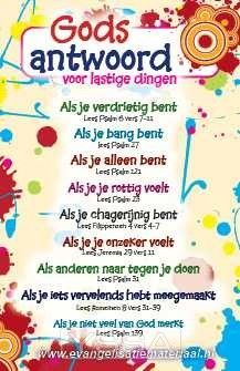 Kaart 'Gods antwoord voor lastige dingen', christelijke kaart Biblical Quotes, Faith Quotes, Bible Quotes, Bible Verses, Bible Love, Bible Words, Bible For Kids, God Loves You, Some Quotes