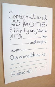 our housewarming invitations new house invites pinterest neue h user sommerfest und neuer. Black Bedroom Furniture Sets. Home Design Ideas