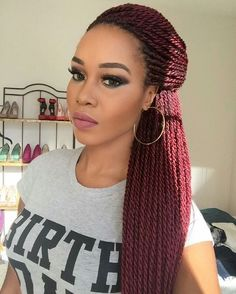 Amazing Beautiful Ideas Senegalese Twist Hairstyles for Black Women Senegalese Twist Hairstyles, Twist Braid Hairstyles, Braided Hairstyles For Black Women, African Braids Hairstyles, Braids For Black Hair, Weave Hairstyles, Senegalese Twist Braids, Elegant Hairstyles, Cornrows