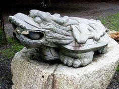 Foo Dog, Bonsai, Dragons, Garden Sculpture, Artsy, Culture, Japan, Stone, Dogs