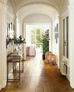 This!! Such a wide and light filled hallway makes my heart happy and don't even get me started on the floorboards! (via @bungalowclassic )