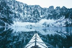 Paddling Into Winter - Hiked with a kayak into Lake 22 in Washington State.