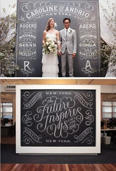Not exactly a product, but in a sense it is.  There is something wonderfully creative and artistic about chalk.  And the type font used is absolutely and undoubtedly genius. I love it!