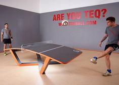Le #teqball, le foot avec une table de ping-pong. #sport #football #tabletennis