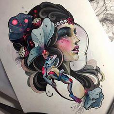 New Tattoo Designs Men Sketches Artworks 27 Ideas Body Art Tattoos, Tattoo Drawings, Sleeve Tattoos, Neo Tattoo, Tattoo Convention, New Tattoo Designs, Man Sketch, Neo Traditional Tattoo, Color Tattoo
