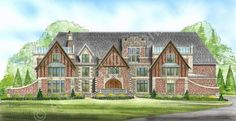 Dysart Castle House Plan - Front Rendering