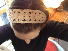 Hæklet hårbånd