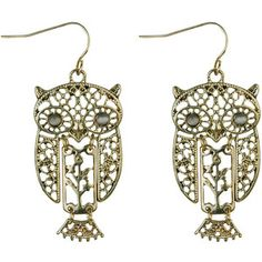 owl earings!