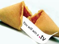 Will this be your fortune on Fortune Cookie Day? Enter our .TV contest and it might just be!! Click for more info.