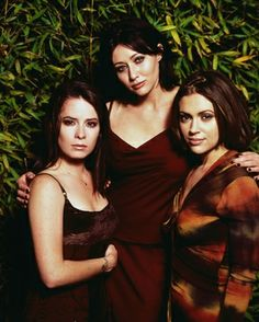Piper, Prue, and Phoebe - Charmed - More pics at http://dvdbash.wordpress.com/2013/03/15/charmed-2013-update-photo-gallery-alyssa-milano-holly-marie-combs-shannen-doherty-rose-mcgowan-and-kaley-cuoco/