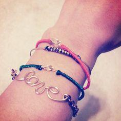4 Threaded Bracelet Set Bangle/Wire Chain