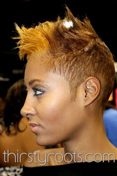 Honey Blonde Short Black Hairstyle black hairstyles, honey blond, hair art, color, short haircut, radio, funky fashion, hair care, blond short