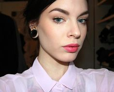 Sweet Tart  you cant go wrong with natural makeup and a hint of color on the lips