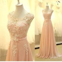 Bridesmaid Dresses Long New Sheer Top Lace Chiffon Floor Length Maid Of Honor Gown Elegant Pink Bridesmaid Dress Dre124 Simple Bridesmaid Dresses From Ufind, $106.03| Dhgate.Com